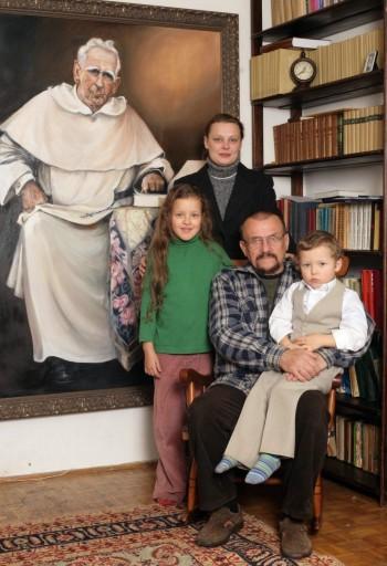 Lusia Ogińska z rodziną