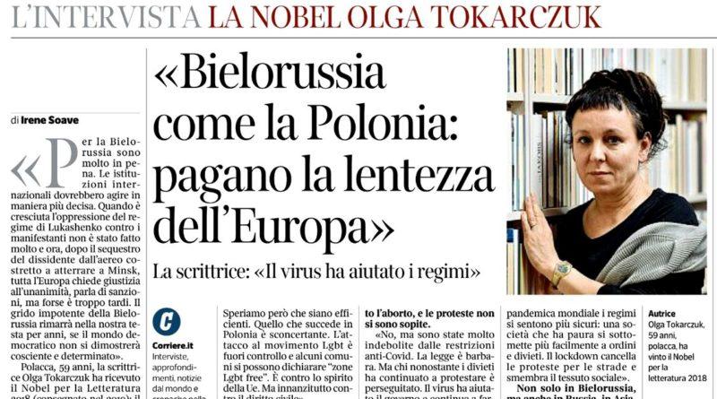"""Polska jak Białoruś – jak Olga Tokarczuk """"rozsławia imię Polski"""""""